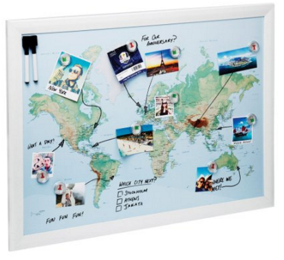 Amazon.com World Map Magnetic Whiteboard Maps to Draw Pin and Plan Your Travels World City Office Products