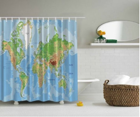 Photo Print Shower Curtain Set Non Vinyl Bath Tub Liner Waterproof Fabric Mildew Resistant Material Ring Hooks Included Nautical Maritime Seafaring Theme copy