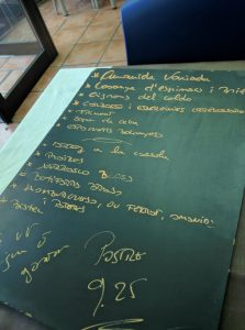 incomprehensible menu